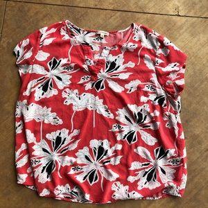Artisan NY 1X floral top